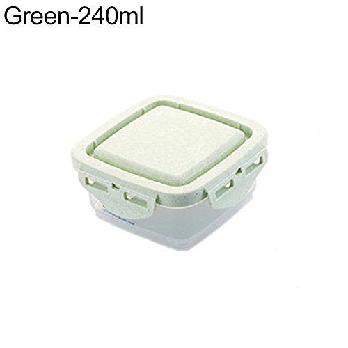 funie Küche Klar Kunststoff Müsli Bean Snacks trockenen Lebensmitteln Aufbewahrungsbox Fall Container 240 ml grün