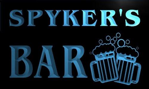 w050250-b-spyker-name-home-bar-pub-beer-mugs-cheers-neon-light-sign