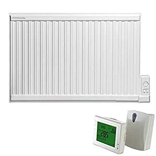 ADAX APO Oil Filled Electric Thermostatic Wall Mounted Radiator in Classic White, 600mm High. Radiant, Traditional Style, Rapid and Cost Efficient Room Heat, with Programmable 247 Wireless Timer, 1000W