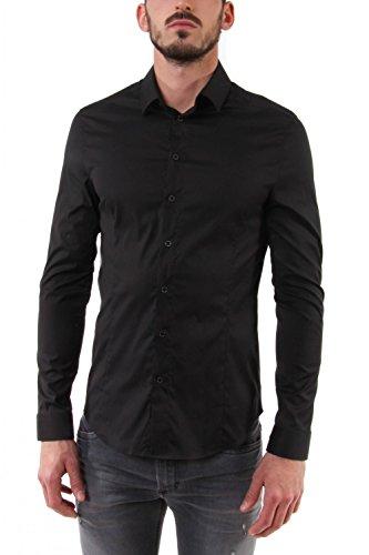 Camicia in Popeline di Cotone Stretch Nera 5C055B A01 - Patrizia Pepe Uomo, 50