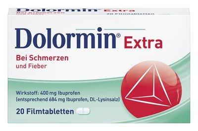 Dolormin extra Filmtabletten bei Schmerzen und Fieber, 20 St. Tabletten