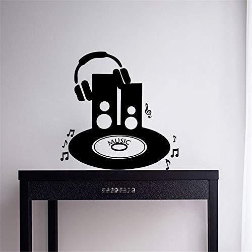 wandaufkleber baby sterne Platin und Musiknote für Musikzimmer Karaoke-Wohnzimmer Schlafzimmer -