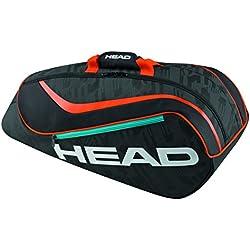 Head Kids 'Combo bolsa para raquetas de tenis, color negro/naranja, talla única
