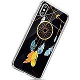 Kompatibel mit iPhone XS Max Handyhülle, Herbests Dünn Crystal Clear Transparent Handyhülle TPU Durchsichtige Schutzhülle Weiche Silikon TPU Bumper Case Handytasche Tasche,Traumfänger