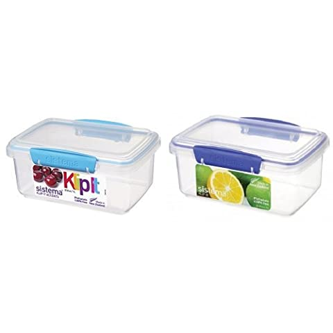 Sistema KLIP IT Food Storage Containers, 1 L - Assorted Colours, Pack of 2