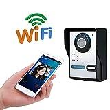 LHKAVE Wasserdichte HD 720P Wife Intelligente Video-Türklingel, Home Wireless Smart Türklingel, Farb-Video-Gegensprechanlage, Infrarot-Nachtsicht