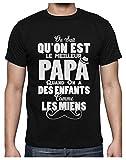 Green Turtle T-Shirts Super Enfants = Super Papa Cadeau de Fête des Pères T-Shirt Homme X-Large Noir...