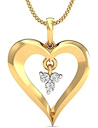 Stylori Lemmeno 18k Yellow Gold and Diamond Pendant