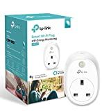Kasa Smart Plug by TP-Link, WiFi Outlet with Energy Monitoring, Works with Amazon Alexa and Google Home, Wireless Smart Socket Remote Control Timer Plug Switch, No Hub Required(HS110)