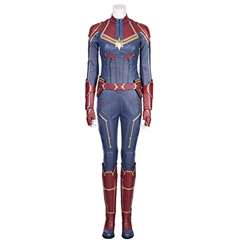 Kämpfen Superheld Kostüm - QWEASZER Halloween Cosplay Marvel Avengers Captain Marvel Blau Kampf Enger Body Verrücktes Kleid Party Kostüm Anime Film Performance Onesies,Captain Marve-M