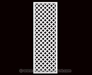 bambus-discount.com Rankgitter, Longlife weiß, 180 x 60cm aus Kunststoff - Sichtschutz, Sichtschutz Elemente…