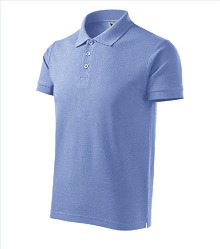 Dress-O-Mat Herren Poloshirt Shirt Polohemd Himmel Blau
