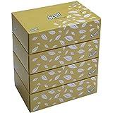 SCOTT® Facial Tissue Box 60044-2 ply Flat Box Facial Tissue - 4 Tissue Boxes x 100 Face Tissues - Sheet Size 15.7 x 21 cm (400 facial tissue)