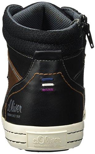s.Oliver Herren 15202 Hohe Sneaker Schwarz (Black)