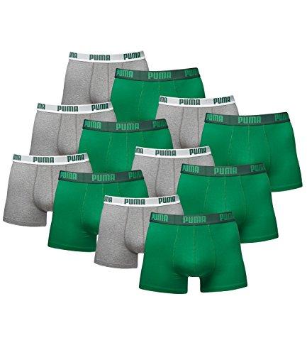 12 er Pack Puma Boxer shorts / grau grün / Size M / Herren Unterhose