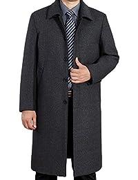 Vogstyle Uomo Nuovo Cappotto Trench Monopetto Slim Fit Windbreaker Giacca  Lunga Outwear a9a6e65f474