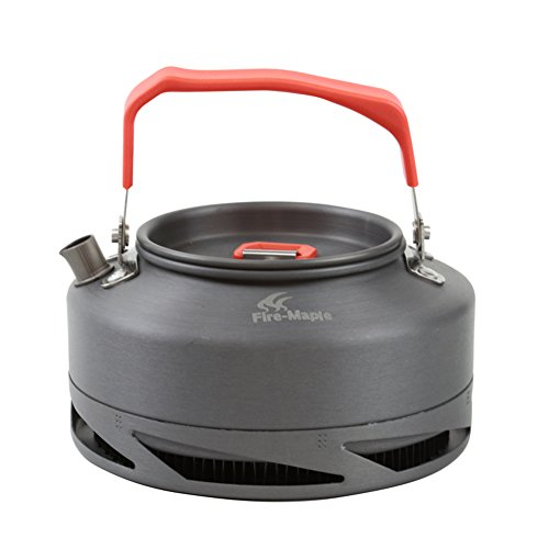 tentock Schnelle Hitze sammeln Camping Angeln Wärmetauscher Wasserkocher Ultralight Kaffee Teekanne eloxiertem Aluminium für Outdoor Picknick Indoor Küchengeschirr mit Mesh-Tragetasche, FMC-XT1, 0.8L