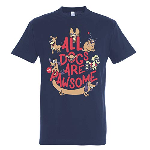 Camiseta All Dogs Are Pawsome - Perro - Humor - 100% Algodón...