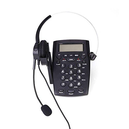 Dial-pad Headset (Hanbaili Freisprecheinrichtung Call Center Telefon, schnurgebundene Telefon mit monaurale Headset & Wähltasten, Tonwahl Key Pad & WAHLW)