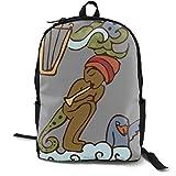 MGTXL Personality Knapsack Z for Art Stylish School Backpack