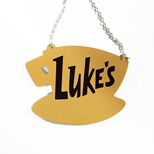 Luke S Diner – Collier – Gilmore Girls inspiré Retro Pop Art – Frappantes Acrylique Collier en boîte souvenir – Kawaii Anime Café