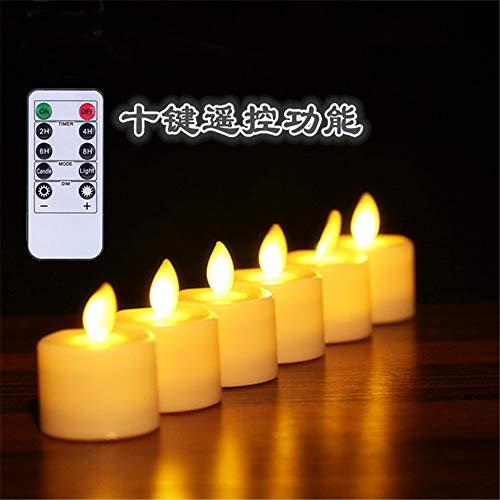 6 LED Kerzen, GTQC LED Flammenlose Tealights, Flackern Teelichter, elektrische Kerze Lichter Batterie Dekoration für Weihnachten, Weihnachtsbaum, Ostern, Hochzeit, Party 1 3.7CM*4.8CM - 4 Bath Body Works