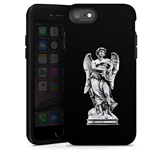 Apple iPhone X Silikon Hülle Case Schutzhülle Engel Statue Angel Tough Case glänzend
