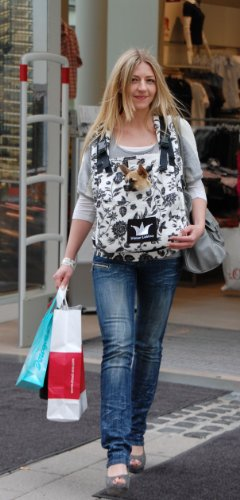 Hundetrage Puppy Bag Creme Flower