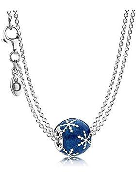 Pandora Silber-Halskette mit Charm Winterliche Freude 08369