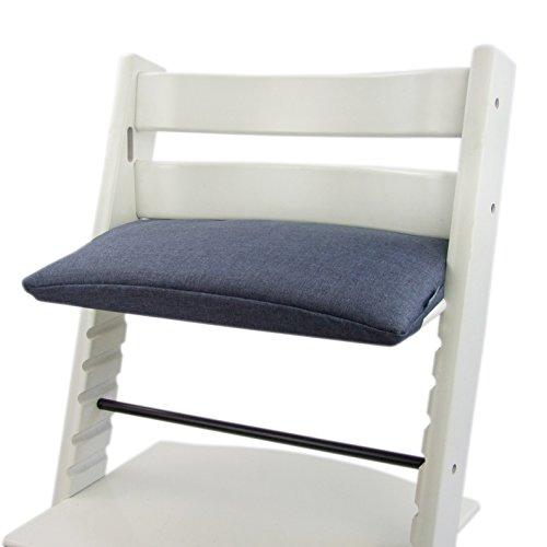 Imagen para Bambini Mundo Funda de repuesto, cojín de Juego para trona/silla infantil stokke Tripp trapp, reductor de asiento (estrellas) azul oscuro