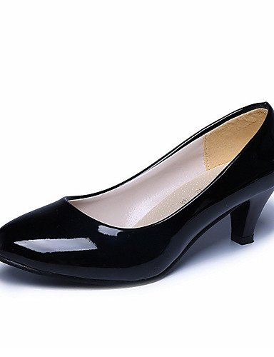 WSS 2016 Chaussures Femme-Mariage / Bureau & Travail / Habillé / Décontracté / Soirée & Evénement-Noir / Rose / Rouge / Blanc / Beige-Gros Talon- red-us8 / eu39 / uk6 / cn39