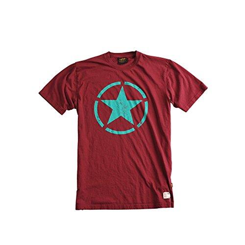 Alpha Industries Star T-Shirt Burgundy