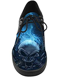 Dalliy disfraz Calavera Casual Lace Up Shoes – Zapatillas de tenis ...