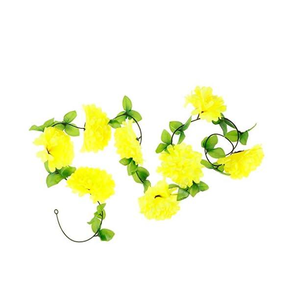B Blesiya Flores Artificiales Crisantemo de Seda Adornos y Decoraciones de Tumbas – Amarillo