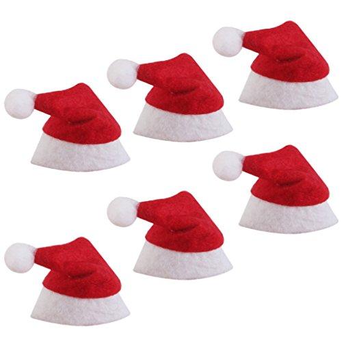 Mini Babbo Natale Cappelli Addobbi Soprammobili per
