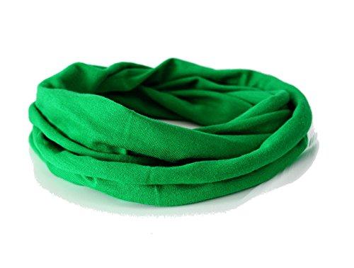 Andrea Traub - FASHION Kleinkinder und Baby - Loop zweifach gewickelt, uni grün, Kids Schlauchschal, Schal Tuch für Mädchen und Jungen