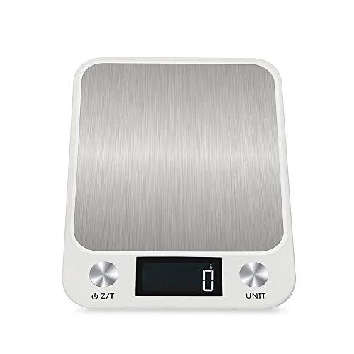 raspbery Küchenwaage Digitale Küchenwaagen Edelstahl Skala 10 kg Hohe Präzision 1g Elektronische Waage (Batterietyp) (Digital-waage 10 Kg)