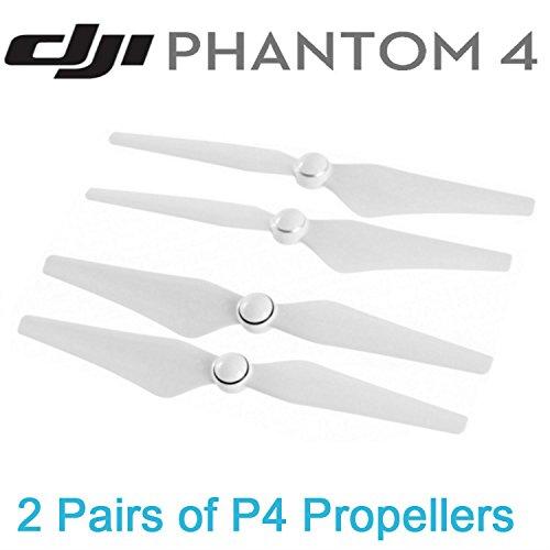 Preisvergleich Produktbild DJI Phantom 4  4 Pro DJI 9450S Quick Release Selbstanzugs Propellern für DJI Phantom 4 phantom 4 Pro Drone Weiß Streifen 4 Stücke (2 Paar)