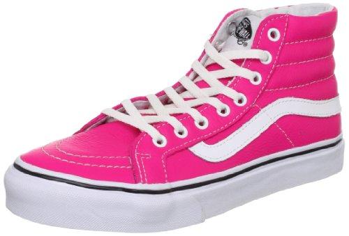 Vans  U SK8-HI SLIM (NEON LEATHER), High-top adulte mixte Rose - Pink ((Neon Leather))
