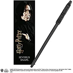 The Noble Collection Varita de PVC Severus Snape de 30 cm con marcador prismático ...