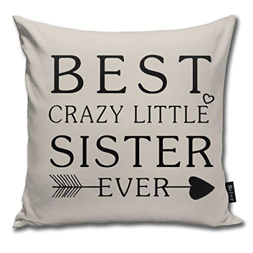 Rasyko Nordic Best Wishes To Best Crazy Little Sister Ever ArrowThrow Funda...