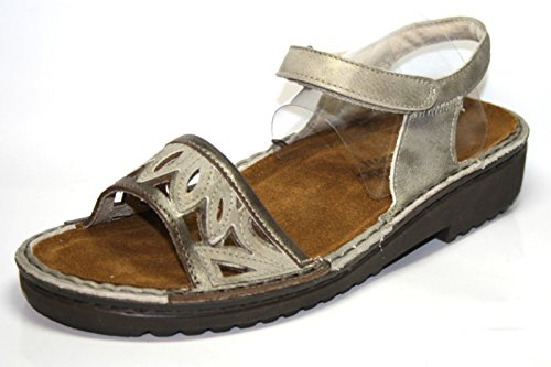 NAOT Birgitta 63055 Damen Sandalen (ohne Karton) Grau (Silber)