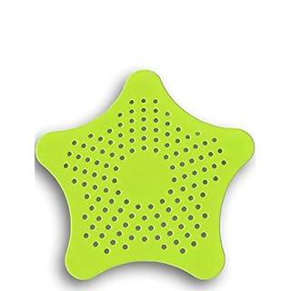 HomeTools.eu - XXL großes Silikon Abfluss-Sieb mit Saugnäpfen | für Küche Spüle Bad Wanne Dusche Gegen Haare, Krümel | 15 x 15cm, grün