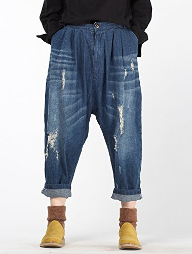 Vogstyle Femme Jeans Ripped New Mode pantalons Harem Collapse Art 2