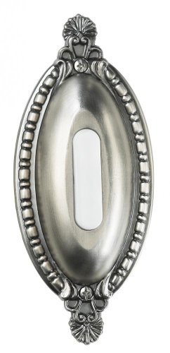 Teiber BSOO-AP Surface Mount Oval Ornate Lighted Doorbell Push Button, Antique Pewter by Teiber -