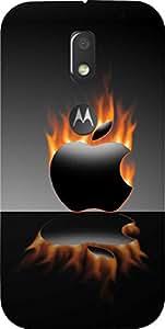 Dot Print Fire Apple Printed Back Cover For Moto E3