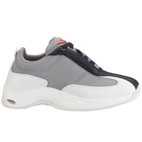 Chung Shi Comfort Step Vela Herren 9100, Herren Sneaker Grau (bianco / Blu / Rosso)