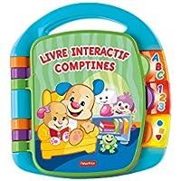 Fisher-Price Livre Interactif Comptines, Jouet Musical d'Éveil Bébé pour Apprendre en Chanson, 6 Mois et Plus, CDH39