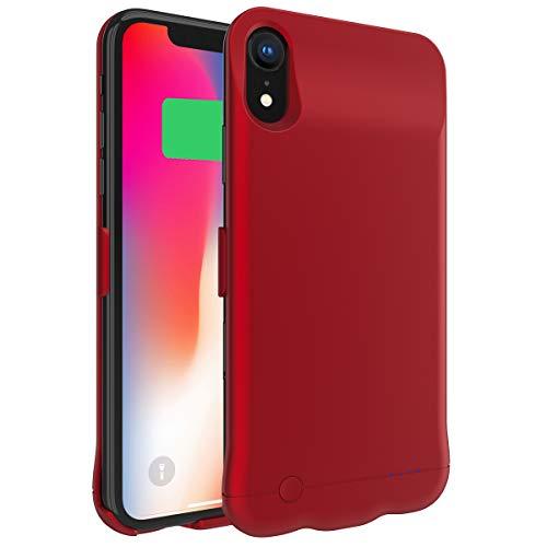 d00860d6b28 Funda iPhone Xr Bateria, 5200mAh Recargable Externa Portátil Batería  Cargador Pack Power Bank Ultra Fina Integrada Recargable de