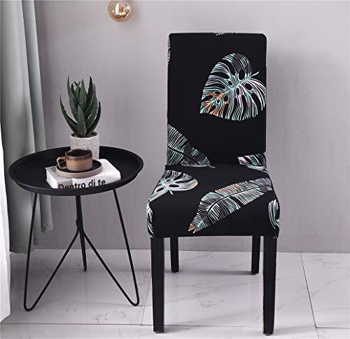 Coprisedie con schienale elasticzzato, morbuy moderno semplice nero coprisedile sala da pranzo hotel cerimonia banchetto lavabile estraibile party decor (10 pezzi,tropicale)